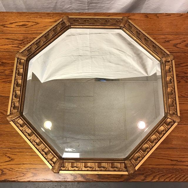 Vintage Octagonal Gilded Mirror - Image 2 of 7