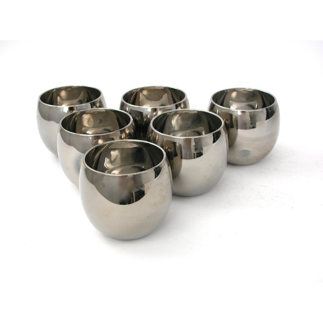 Image of Mid Century Silver Glasses - 6