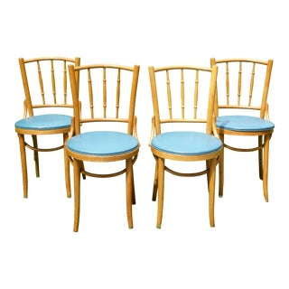 Thonet Era Romania Antique Bentwood Dining Cafe Chairs - Set of 4