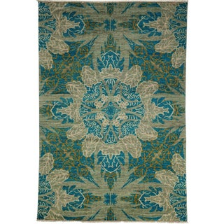 """Eclectic Hand Knotted Area Rug - 4' 2"""" X 5' 10"""""""
