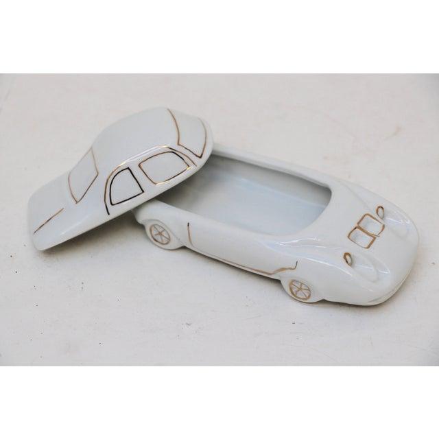 White Porcelain Car-Shaped Stash Box - Image 4 of 6