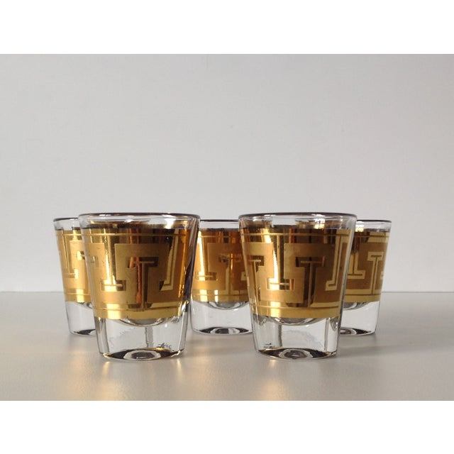 "Gilt ""Greek Key"" Shot Glasses - Set of 5 - Image 6 of 6"