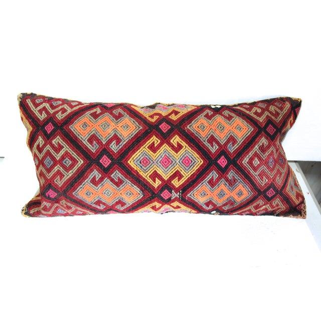 Oversized Burgundy Turkish Kilim Cushion - Image 2 of 4