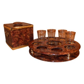 Tortoise Shell Bar Caddy Set