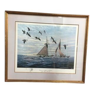 """Canadas & Skipjacks on the Choptank"" Nautical Art"