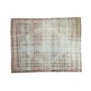 "Antique Distressed Kermanshah Carpet - 9' x 11'4"""