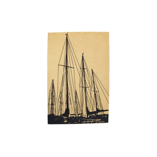Marushka Sailboat Screenprint Wall Textile