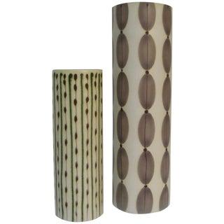 Artisan Ceramic Vases - A Pair