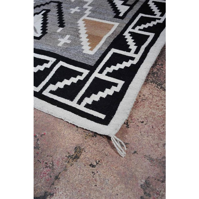 "Vintage 1920s Navajo Geometric Rug - 3′6″ x 73"" - Image 6 of 11"