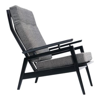 Restored Mid Century Modern Black & Gray Chair