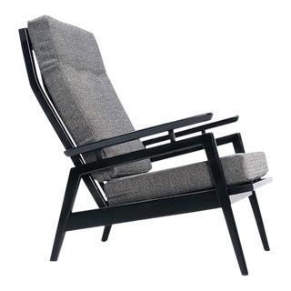 Restored Mid Century Modern Black & Gray Chair