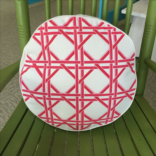 Eco Accents Round Pink Canvas Pillow - Image 2 of 5