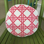 Image of Eco Accents Round Pink Canvas Pillow