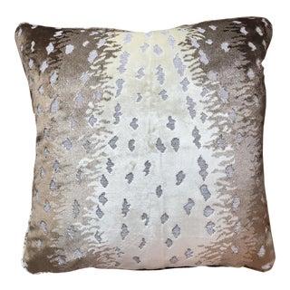 Old World Weavers Silk Cut Velvet Antelope Pillow