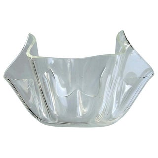 Mid-Century Modern Lucite Handkerchief Bowl