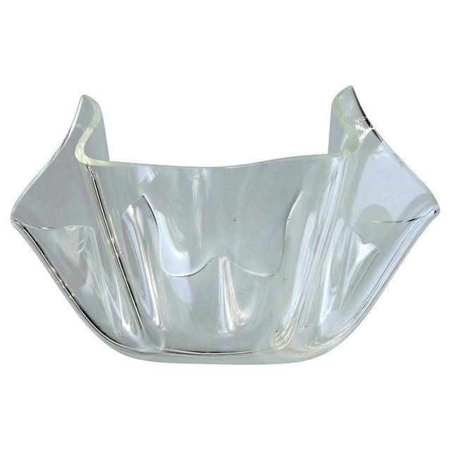 Mid-Century Modern Lucite Handkerchief Bowl - Image 1 of 9