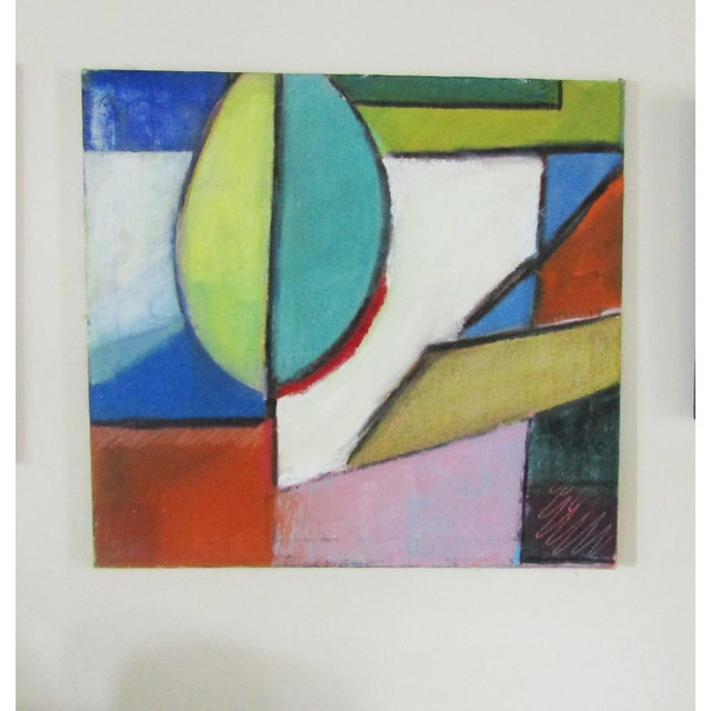 Original Signed Large Colorful Abstract Painting - Image 8 of 8
