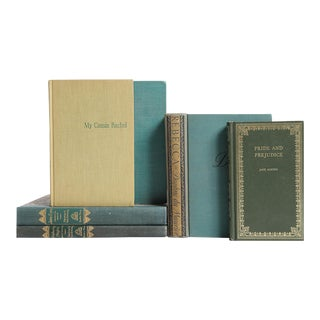 British Women's Classic Books in Green - Set of 6
