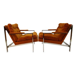 Cy Mann Chrome Lounge Chairs - A Pair