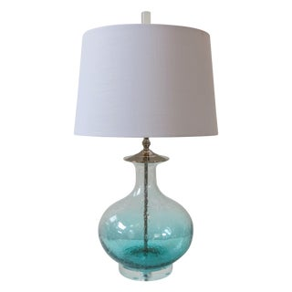 Sea Green Blown Glass Lamp