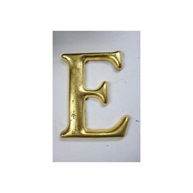"Image of Vintage English Pub Sign Letter ""E"""