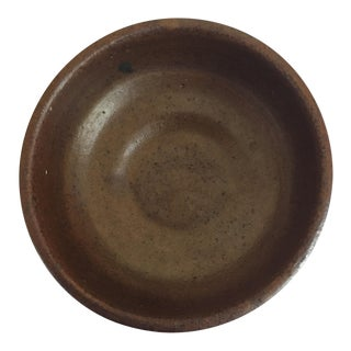 Small Brown Earthenware Bowl