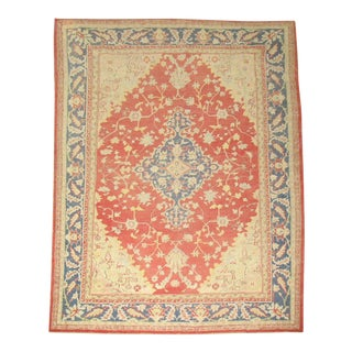 "Antique Turkish Oushak Rug - 8'10"" x 11'9"""