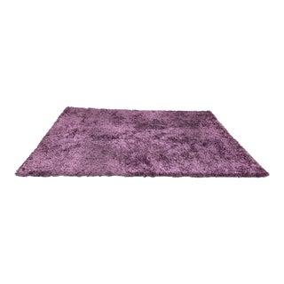 "Hand-Woven Silky Purple Rug - 9'1"" X 11'9"""