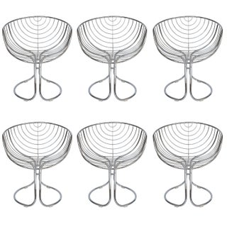 Pan Am Chrome Dining Chairs - Set of 6