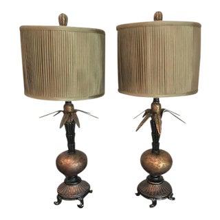 Unique Bronze Lamps - A Pair
