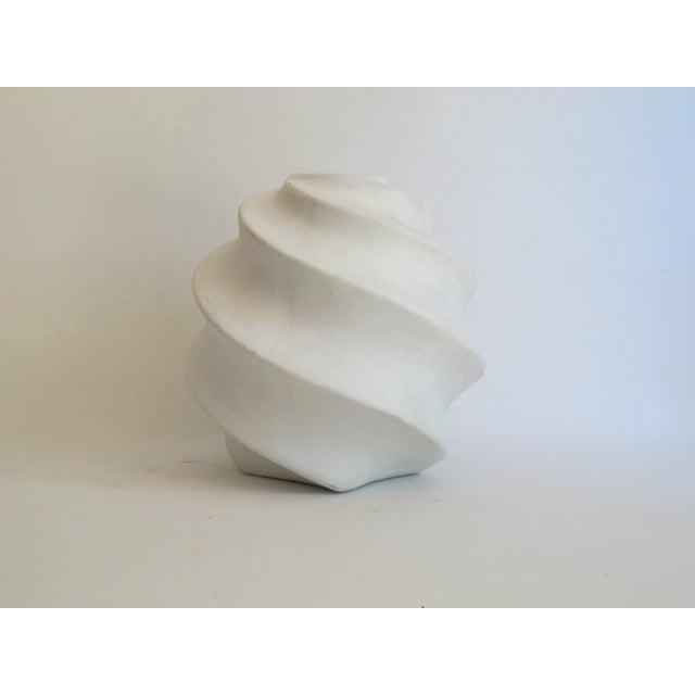 White Sculptural Ceramic Candle Holder - Image 6 of 6