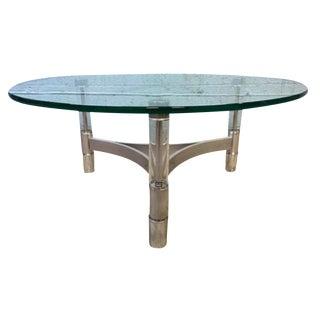 Modern Metal & Acrylic Tube Coffee Table