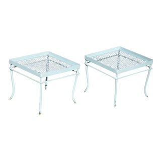 Russell Woodard-Style Patio End Tables - A Pair