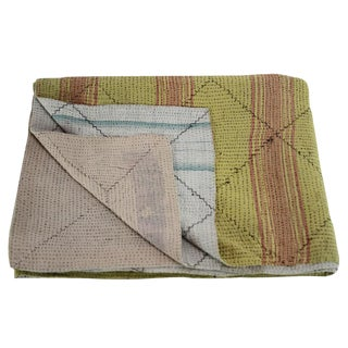 Goldenrod Vintage Kantha Throw