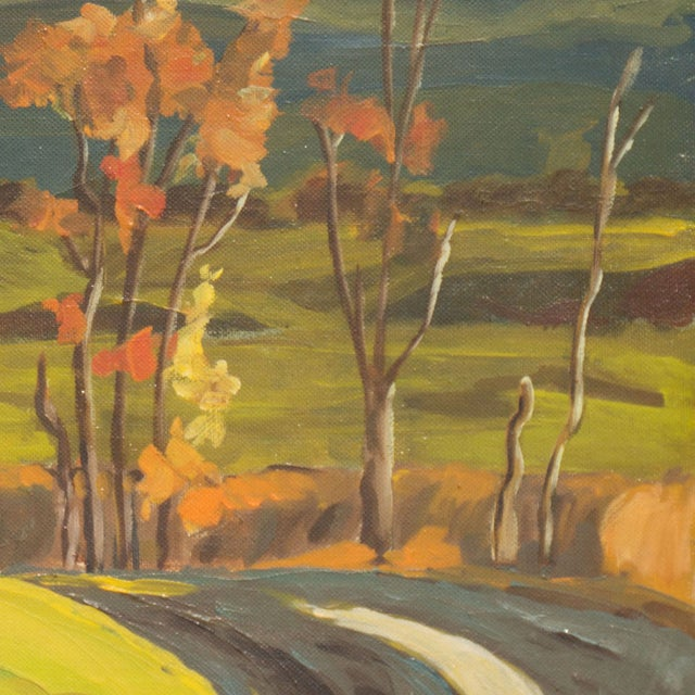 Vintage 1960 Farmhouse in Autumn Oil Painting - Image 5 of 6