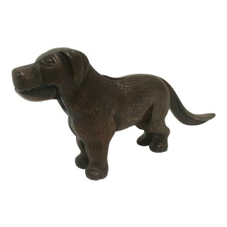 English Bronze Dog Nutcracker