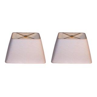 Ivory Lamp Shades - A Pair