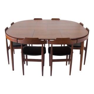 Eight-Seat Dining Set by Hans Olsen for Frem Rojle