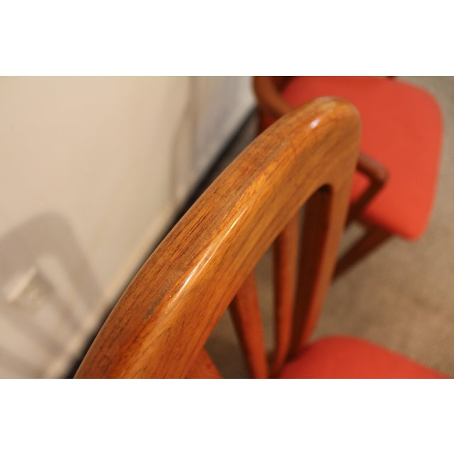 Set of 6 Mid-Century Danish Modern Ansager Mobler Spindle Teak Dining Chairs - Image 7 of 11
