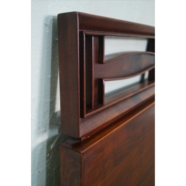 Image of Mid Century Modern Walnut King Size Headboard