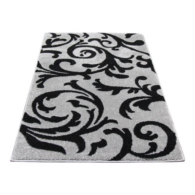 "Gray Vine Pattern Rug - 2'8"" X 5' - Image 1 of 3"
