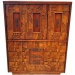 Image of Brutalist Late 1960's Lane Dresser Cabinet