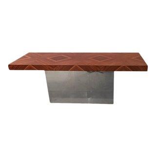 Milo Baughman Chrome & Rosewood Console Table