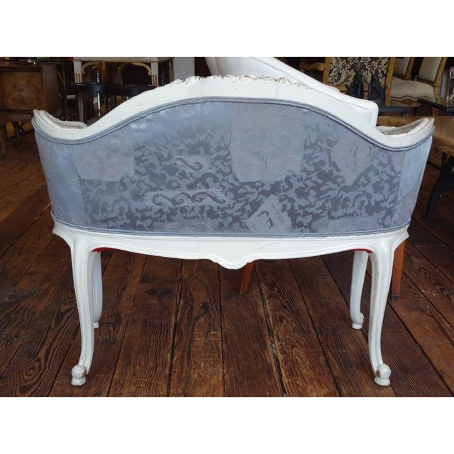 Antique French Small Settee Loveseat - Image 2 of 7