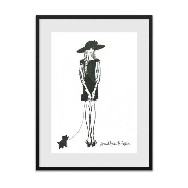 "Image of Daniela Kamiliotis ""Maddison"" Fashion Print"