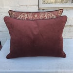 Image of Burgundy & Gold Fortuny Pillows - A Pair