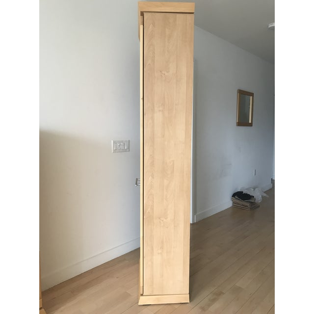 Tall Alder Wood Entryway Armoire - Image 4 of 11