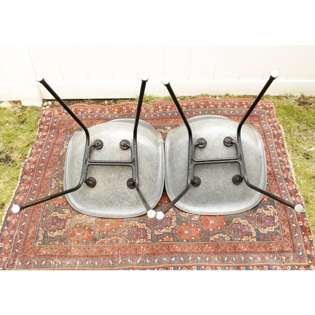 Gray Eames Fiberglass Shell Chairs - A Pair - Image 7 of 10