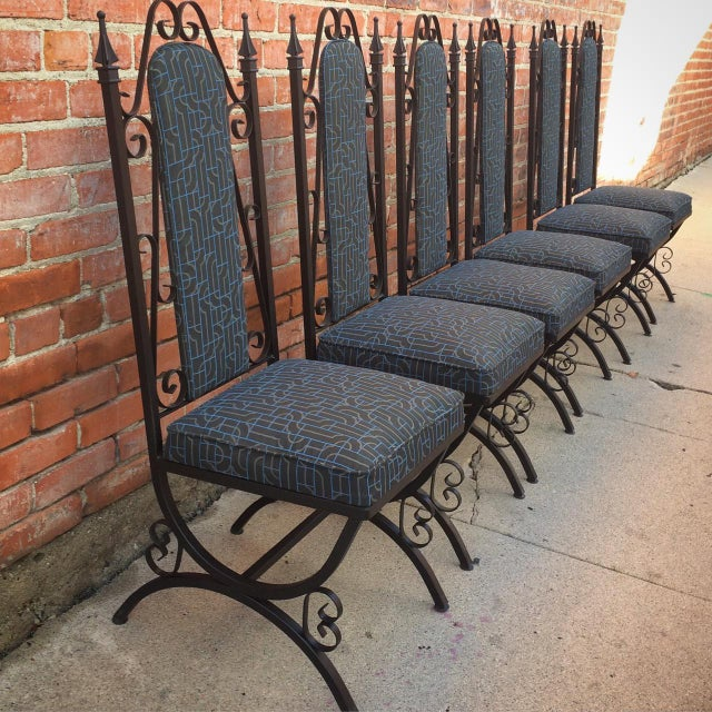 Midcentury Spanish Revival Dining Chairs - Set of 6 - Image 2 of 8