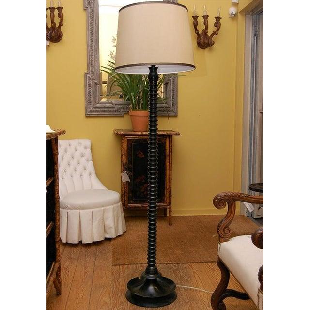 Image of Ghee Black Twist Floor Lamp with Shade